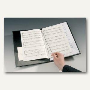 officio Notenmappe mit Haltegurt und Verschlussband, schwarz, 317520