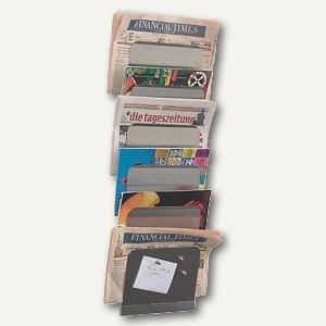 officio Wandzeitungshalter mit 5 magnetischen Ablagefächern, Edelstahl
