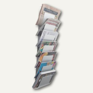 Wandzeitungshalter mit 7 Fächern