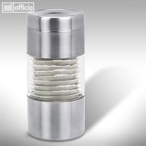 Behälter für Kaffeepads aus geschliffenem Edelstahl