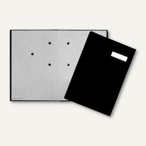 officio Unterschriftenmappe Office DIN A4, Leineneinband, 20 Fächer, schwarz