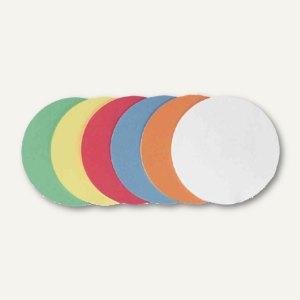 """officio Moderationskarten """"Kreis"""", Ø 19.5 cm, farbig sortiert, 250 Stück"""