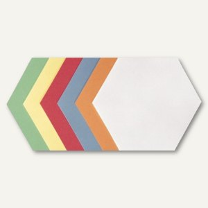"officio Moderationskarten ""Wabe"", 16.5 x 19 cm, farbig sortiert, 250 Stück"