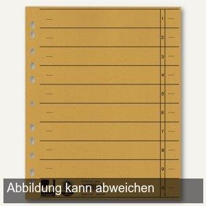 officio Trennblätter für DIN A4, 24 x 30 cm, vollfarbig, 230 g/m², gelb, 100 ST.