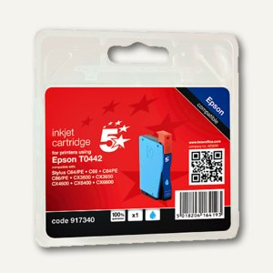 officio Tintenpatrone cyan, kompatibel zu Epson T044240, 13 ml, 917340