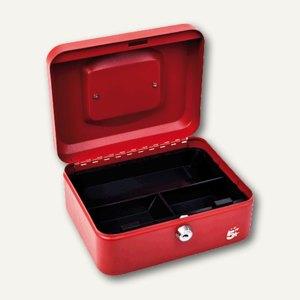 officio Geldkassette mit Münzeinlage, 15 x 78 x 20 cm, rot