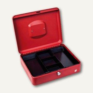 officio Geldkassette mit Einlage f. Münzen, 30 x 9 x 22 cm, rot