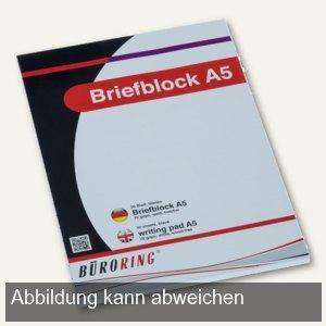 officio Briefblock CF, DIN A5, blanko, 50 Blatt, 70 g/m², 925228