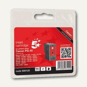 officio Tintenpatrone, schwarz, kompatibel zu Canon PG-40, 26 ml