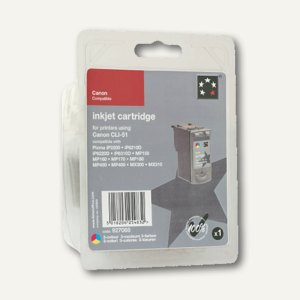 officio Tintenpatrone, gelb, kompatibel zu Canon CLI521Y, 9 ml, 929040