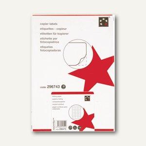 Inkjet, Laser- & Kopier-Etiketten, 48 x 25.4 mm, selbstkl., weiß, 4.000 St., 928