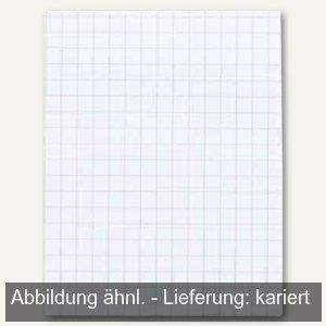 officio Notizblock DIN A6, Recyclingpapier, weiß, kariert, 50 Blatt, 929925