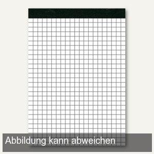 officio Notizblock DIN A5, 70 g/m², weiß kariert, 50 Blatt