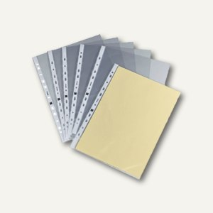 officio Prospekthüllen DIN A4, 100my, geprägt, oben offen, 100 Stück, 931729