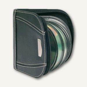 CD/DVD Lederetui für 24 CDs/DVDs