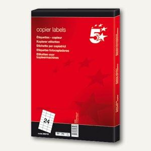 Inkjet, Laser- & Kopier-Etiketten, 48.5 x 16.9 mm, selbstkl., weiß, 6.400 St.
