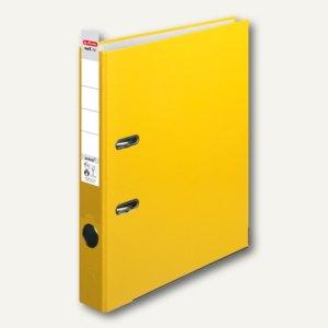 Herlitz Ordner maX.file protect 50 mm, Wechselfenster, gelb, 5451307