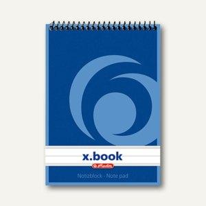 Herlitz Spiralnotizblock x.book, DIN A6, liniert, 00110619