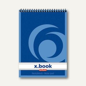 Herlitz Spiralnotizblock x.book, DIN A7, liniert, 00110718
