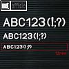 Details zu Buchstaben- Ziffern- Zeic...